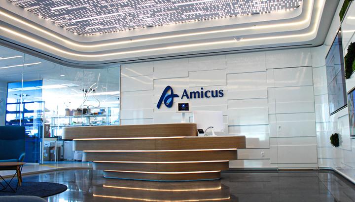 Photo of Amicus Therapeutics front desk reception